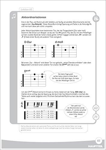 Spielend Gitarre Lernen: Die große Anfänger-Gitarrenschule (mit DVD) - 6