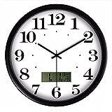 Wall Clocks Orologio da parete campana famiglia pendolo Soggiorno muto orologi semplicità d'ufficio orologio elettronico calendario perpetuo orologio da parete moderno moda orologio al quarzo A