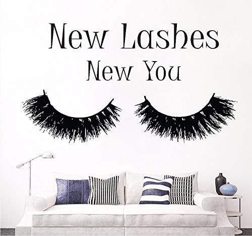 Hanjiming Wimpern Erweiterung MakeupWall Decal Schlafzimmer Neue Wimpern Neue Wimperntusche Abziehbild Beauty Salon Dekor Kosmetik Wandkunst