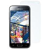 atFolix Panzerfolie für Samsung Galaxy S5 Mini Folie - 3 x FX-Shock-Clear stoßabsorbierende ultraklare Displayschutzfolie