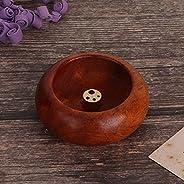 Wooden Incense Incense Holder, Mini Incense Round Wooden Holder Indoor Use for Buddhist for craft