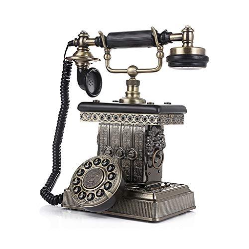 Retro Telefon Büroelektronik Europäische Antike Telefon Retro Alle Metall Kreative Dekorative Festnetz Home Home Zubehör Geschenke Bürotelefone (Color : Bronze, Size : 24.6 * 18.5 * 27.2cm)