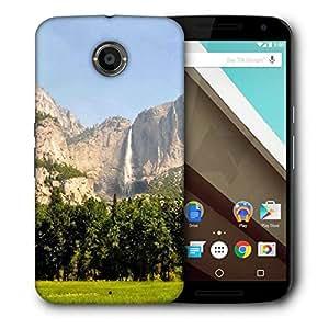 Snoogg Mountain Waterfall Designer Protective Phone Back Case Cover For Motorola Nexus 6