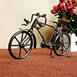 Willower Nouveau Bicyclette Vintage modèle Artisanat de Fer en métal pour la Collection de Cadeau d'anniversaire, C Gris (17 * 6 * 11 cm)