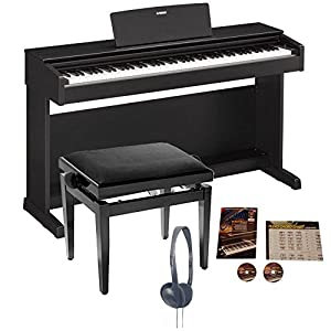 Yamaha YDP-143 Arius Digital Piano Black Walnut Bundle
