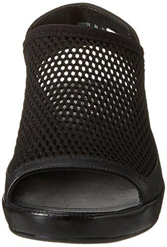 Ecco Damen Tabora 45 Offene Sandalen mit Keilabsatz Schwarz (51052BLACK/BLACK)