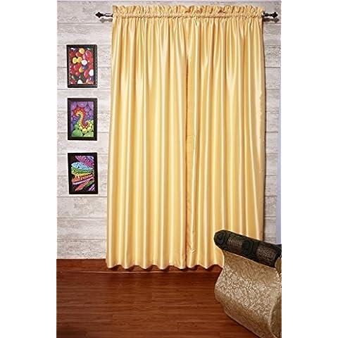 Crema cortinas satén de seda Dupioni sintética, elección de piezas, anchura y longitud elección con forros opacos por zappycart., 104