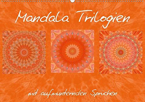 Mandala TrilogienAT-Version (Wandkalender 2020 DIN A2 quer): Farbharmonische Mandala Collagen (Monatskalender, 14 Seiten )