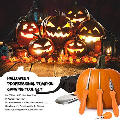 Secura Pumpkin Carving Tools - Professionelle Edelstahl 10 Stück Carving Tools für Halloween Jack-O-Laternen Kürbis Party Dekorationen (10 pc) - 5