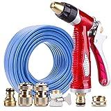 YCGDZ Hochdruckwasserwerfer-Satz-Metallkupfer-Verbindungen, Hausgarten-Bewässerung Tools, Reinigungs-Autowäsche (größe : 20m)