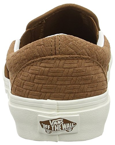 Vans Classic Slip-On, Sneakers Basses Mixte Adulte Marron (Braided Suede/Dachshund)