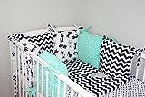 Baby's Comfort Parure de lit bébé ENSEMBLE DE 8 PIÈCES avec Tour de lit 6 coussins (24 couleurs) (9a)