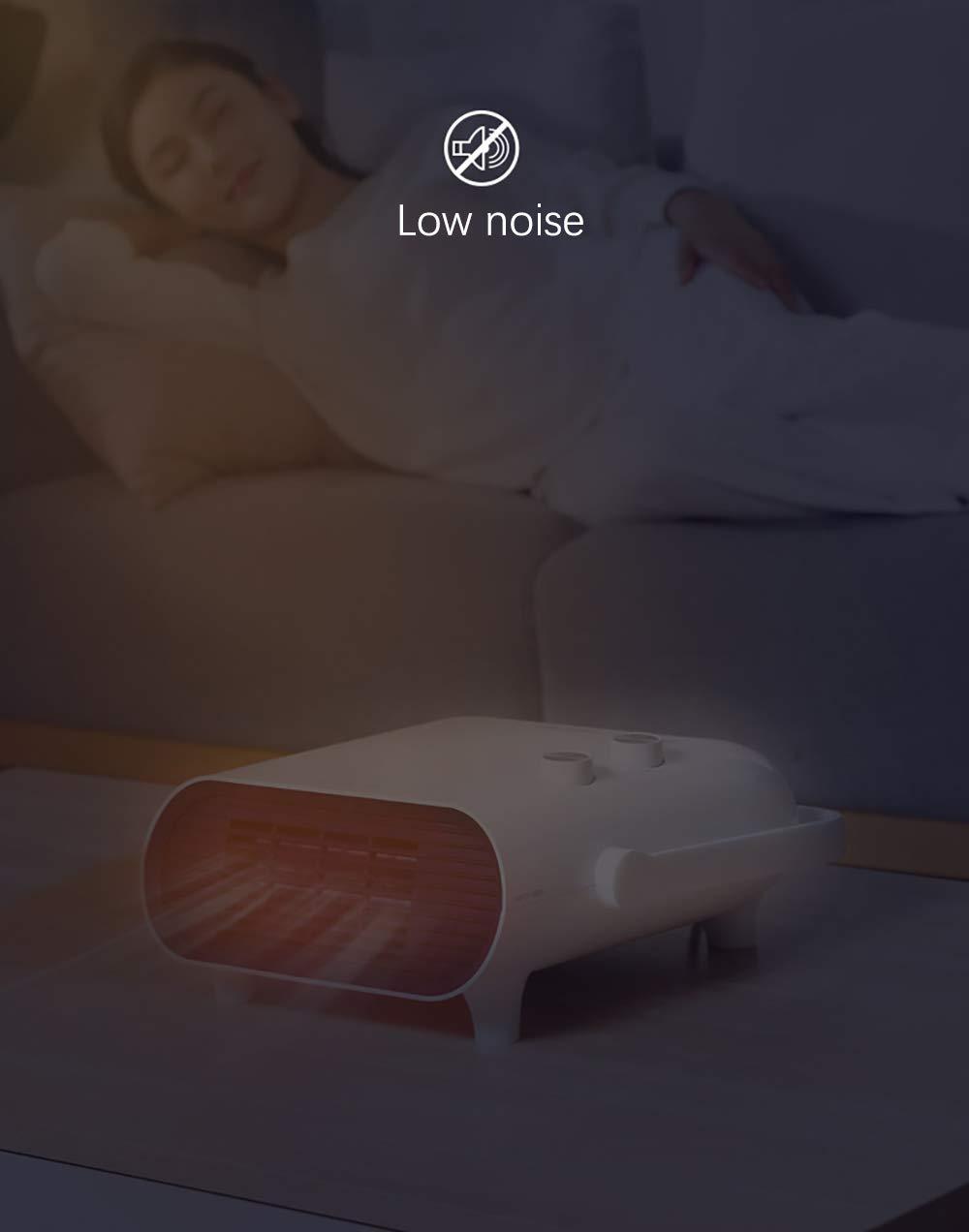 Calentador Espacial, Mini Ventilador Calefactor Personal, Viento Cálido / Natural Para Baño, Oficina Y Hogar, 3 Modos… 3