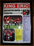 Manchester United 1Liverpool 0–1996FA Cup Final–Kunstdruck, gerahmt