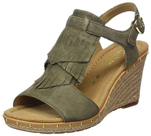 Gabor Shoes Damen Comfort Sport Riemchensandalen, Grün (Oliv (Jute), 40.5 EU