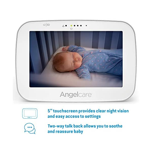 Angelcare Ac527 Baby Movement Monitor, with Video Angelcare New smaller, wireless sensasure movement sensor pad Alarm will sound if there is no movement after 20 seconds Non-contact monitoring 3