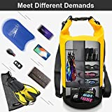 Blackace 5L 10L 20L 30L WaterProof Dry Bag/Sack Waterproof Bag with Long Adjustable Strap for Kayaking Boat Tour Canoe/Fishing/Rafting/Swimming/Snowboarding (Yellow-lack, 10L)