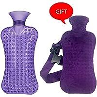 KOMEISHO 2 Liter große PVC-heiße kalte Wasserflasche-Tasche mit Abdeckung Winter-Nacken-Handwärmer-Tasche heißes... preisvergleich bei billige-tabletten.eu