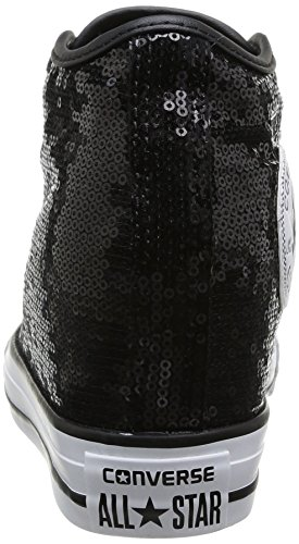 Converse, All Star Mid Lux Sequins, Sneaker, Donna Black Sequins