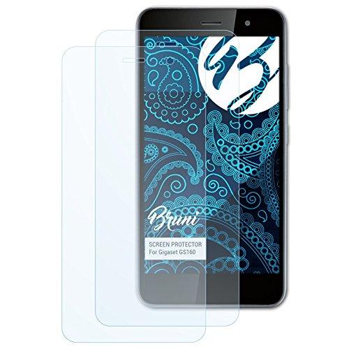 Bruni Schutzfolie kompatibel mit Gigaset GS160 Folie, glasklare Bildschirmschutzfolie (2X)
