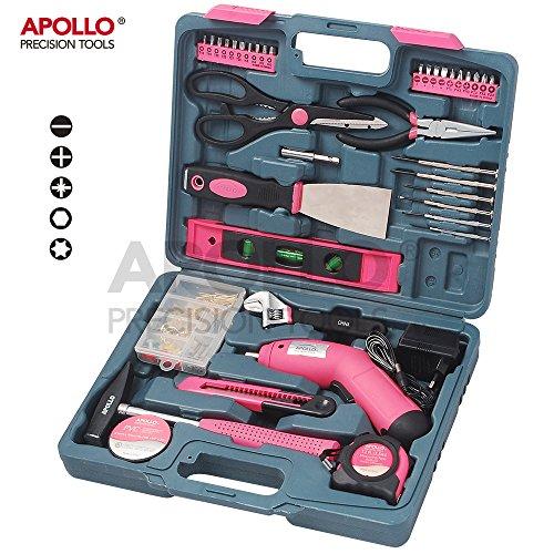 kit-doutils-rose-pour-la-maison-apollo-137-pieces-incluant-un-tournevis-electrique-sans-fil-48v-avec