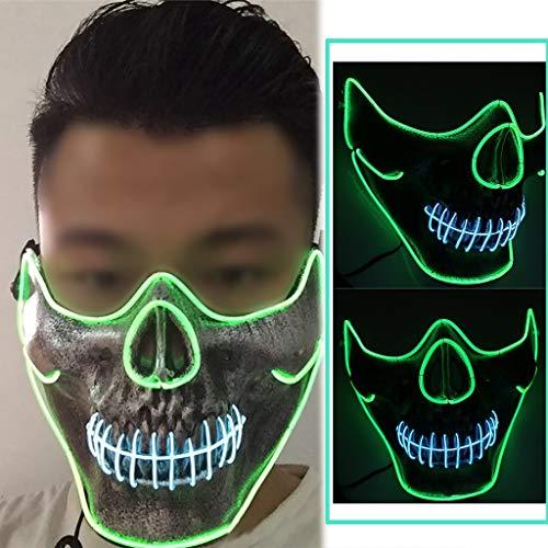 Maske, Festival Party LED Masken Fashing Karneval Party Kostüm Cosplay Erwachsene Masken Blinkende Purge Dekoration Batterie Angetrieben(Nicht Enthalten) ()