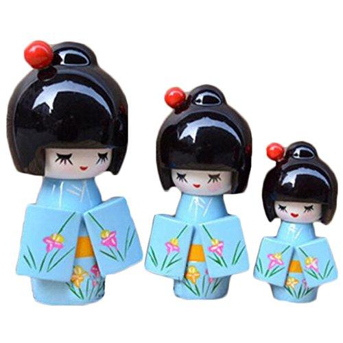 Black Temptation Muñeca Hermosa de Madera Tradicional Japonesa / Mini muñeca / Regalos / decoración -A10
