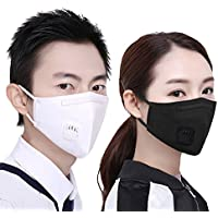 Tcare - 2Pcs/Lot Mode Unisex Cotton Breath Ventil Mundmaske Anti-Staub Anti Pollution Mask Tuch Aktivkohlefilter... preisvergleich bei billige-tabletten.eu