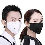 Tcare - 2Pcs/Lot Mode Unisex Cotton Breath Ventil Mundmaske Anti-Staub Anti Pollution Mask Tuch Aktivkohlefilter Atemschutzgerät Mund-Muffel (Weiß)