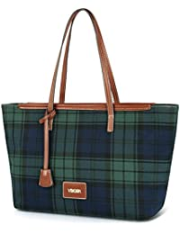 Vbiger Womens Handbags And Purses Canvas Tote Bag Multi-color Stripes Shoulder Bag
