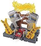 Hot Wheels FRH31 City Kraftwerk Explosion Set, Spielset mit Affe inkl. 1 Spielzeugauto, ab 4 Jahren