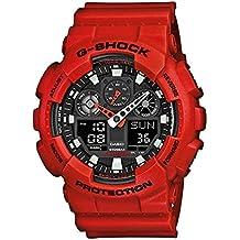 Casio G-Shock – Reloj Hombre Analógico/Digital con Correa de Resina – GA-100B-4AER