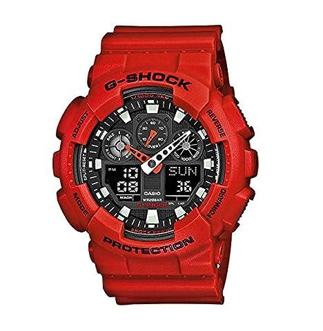 Casio G-Shock - Montre Homme Analogique/Digital avec Bracelet en Résine - GA-100B-4AER
