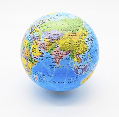 Exerz Globe Rotatif de 14CM avec lumière LED/Globe Mondial/Globe Mondial/Globe Mondial/Globe de Bureau en Anglais - Diamètre 14 CM B073PXSHBC | Dernière Arrivée  45315f
