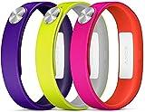 Sony SRW110PUS - Pack Active de tres pulseras para SmartBand, lila,  amarillo y  blanco,  medida S