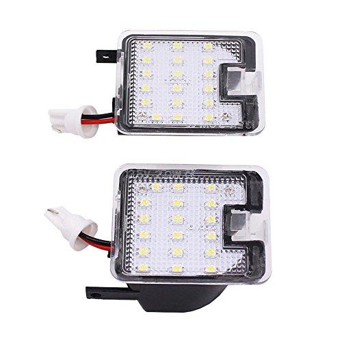 Dire-wolves (2 Stück) Auto LED Rückspiegel Beleuchtung Türbeleuchtung Willkommen Licht Einstiegsbeleuchtung für Ford Wing Tiger Winning Fox LED-Seitenspiegel
