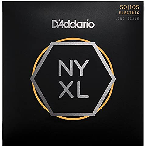 D'Addario NYXL50105 Long Scale Medium Nickel Wound Bass Guitar String