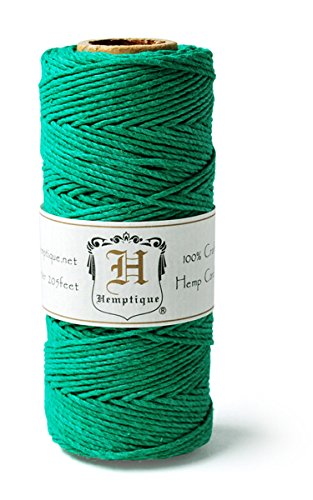 Hemp Cord Spool 20# 205'/Pkg-Green -
