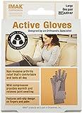 IMAK Active Arthritis Compression Gloves (Grey, Large)