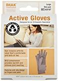 IMAK Active Arthritis Compression Gloves (Grey, Large)