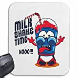 Mousepad 'MILK SHAKE TIME NOO PROTEIN SHAKE MILKSHAKE SUPPLEMENTS PROTEIN POWER SPORT DIET SLIMMING CALORIE FIGURE FITNESS BMI FAT COVER DICK THIN FIGURE STRESSES BELLY SCOPE' for your laptop, notebook or PC Internet .. (with Windows Linux, etc.) in White