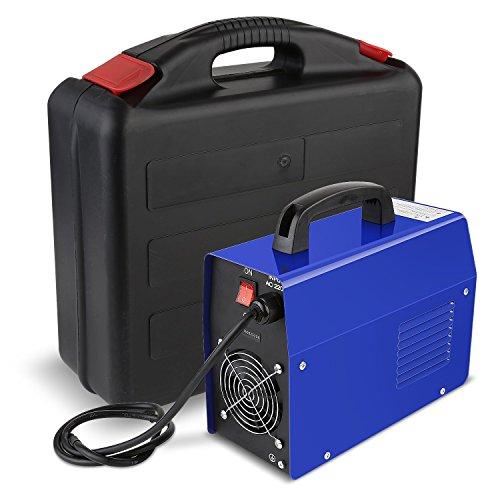 FIXKIT Elektrodenschweißgerät 20-200 Ampere - 2,5mm / Inverter Schweißgerät MMA, ARC / Einschaltdauer 100 % bei 160A, mit Koffer,6kg