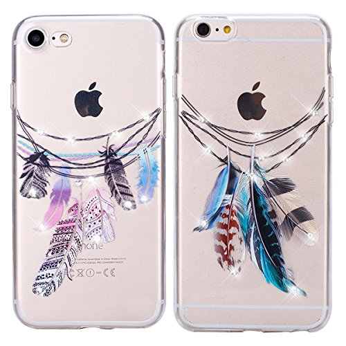 Doppel-Pack (Packung mit 2) iPhone 6/6S Plus Hülle, iPhone 6 6S Plus Silikon Hülle [Kratzfeste, Scratch-Resistant], Sunroyal® iPhone 6 6S Plus(5,5Zoll) Hülle TPU Case Schutzhülle Silikon Crystal Kirst Pattern 01