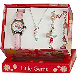Ravel 'Little Gems' Mermaid Watch and Silver Plated Jewellery Set.
