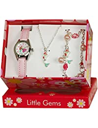 Ravel Mädchen-Armbanduhr Ravel 'Little Gemz' Mermaid Children's Jewellery Set. Analog Plastik Rosa R