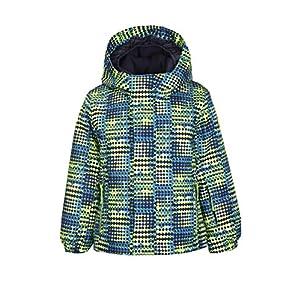Killtec Jungen Stripy Mini Skijacke / Funktionsjacke mit Kapuze und Schneefang, GROW UP Funktion – Kindermode die mitwächst