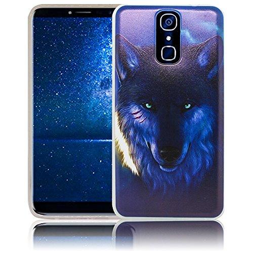 thematys Passend für Cubot X18 Wolf Silikon Schutz-Hülle Weiche Tasche Cover Case Bumper Etui Flip Smartphone Handy Backcover Schutzhülle Handyhülle Cubot X18