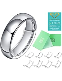 Invisible Ring Size Adjuster For Loose Rings Ring Adjuster Fit Mens Rings With Jewelry Polishing Cloth (8PCS,...
