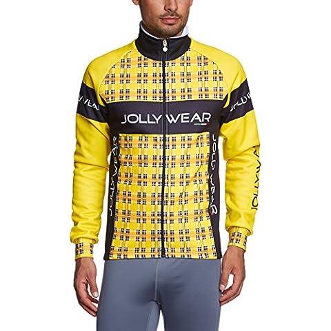 Jolly Wear Giub_Tweed_Y_L - Chaqueta invernal térmica unisex para ciclismo, color amarillo, talla