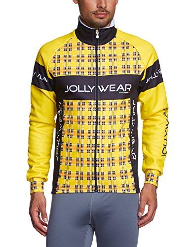 Jolly Wear Giub_Tweed_Y_L - Chaqueta invernal térmica unisex para ciclismo, color amarillo, talla L